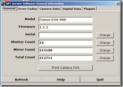 shutter count spt software